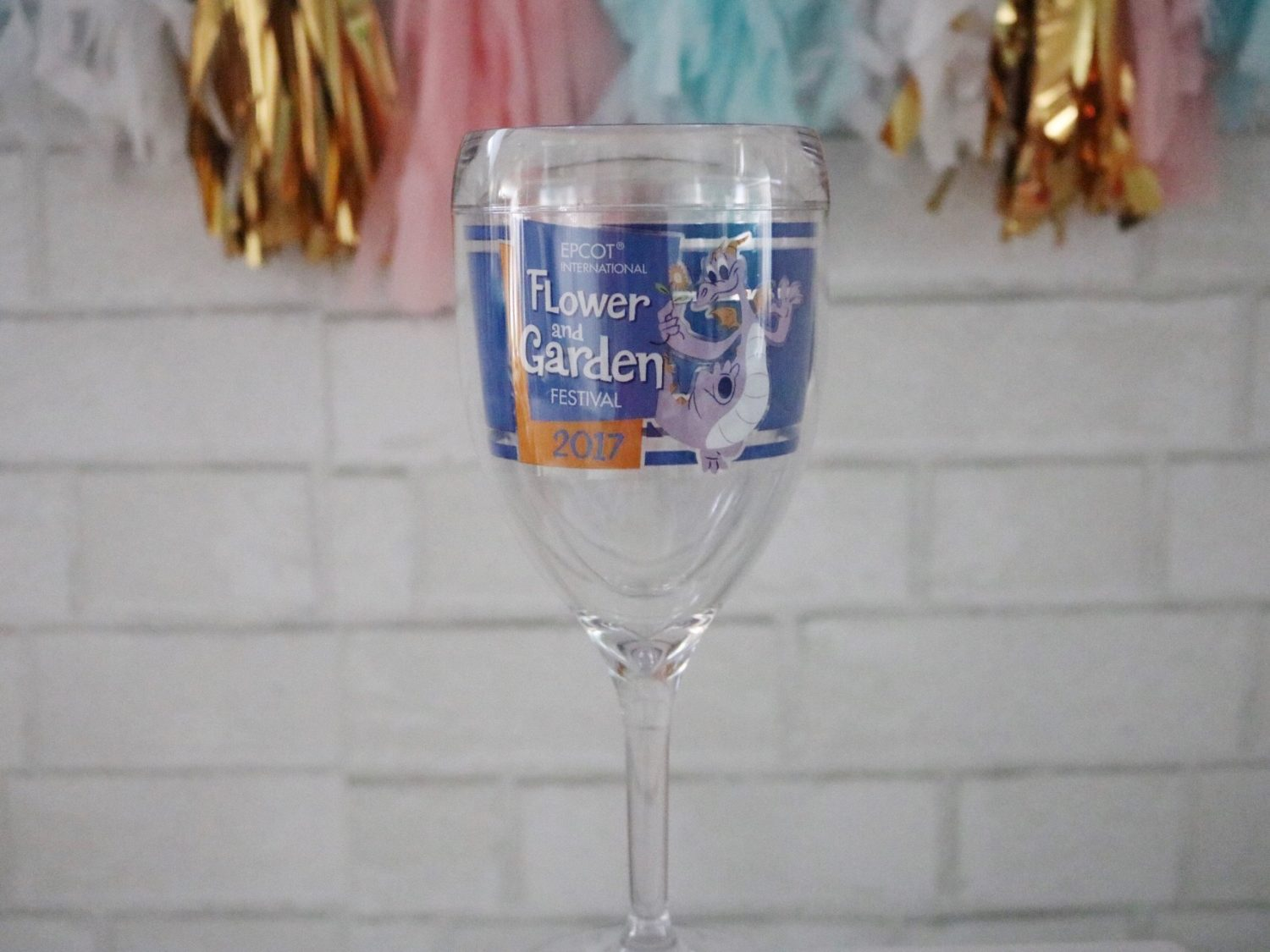 Epcot Flower and Garden Festival Figment TERVIS wine goblet