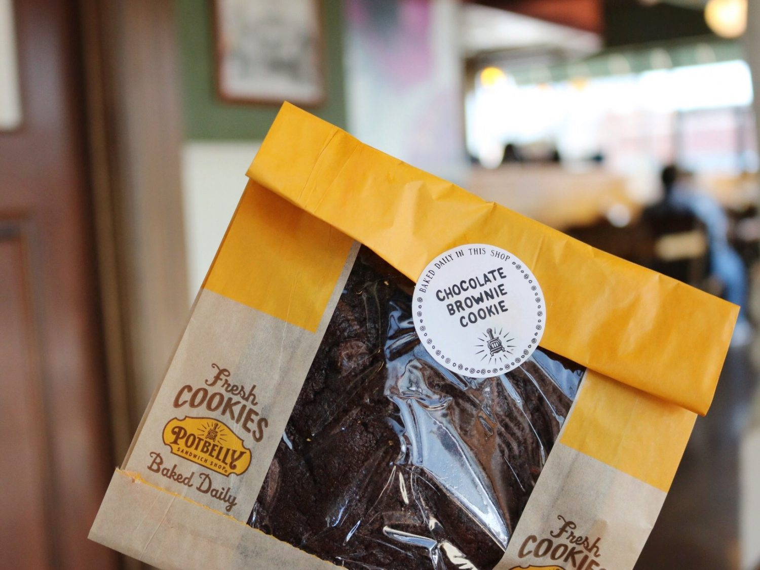 Potbelly Chocolate Brownie Cookie