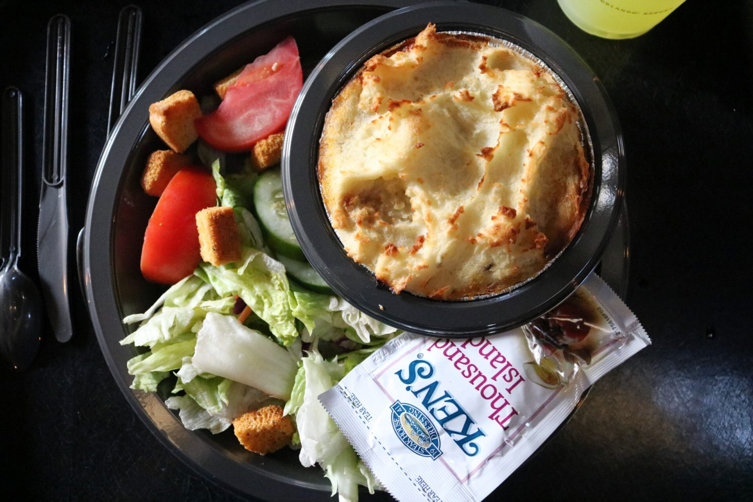 Three Broomsticks Shepherd's Pie with Garden Salad