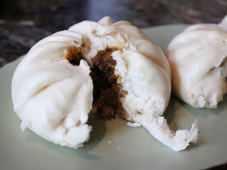 Cheeseburger Steamed Pods - Bao Buns