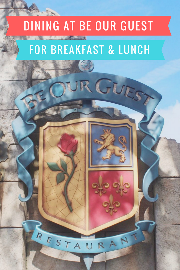 Dining at Be Our Guest Restaurant
