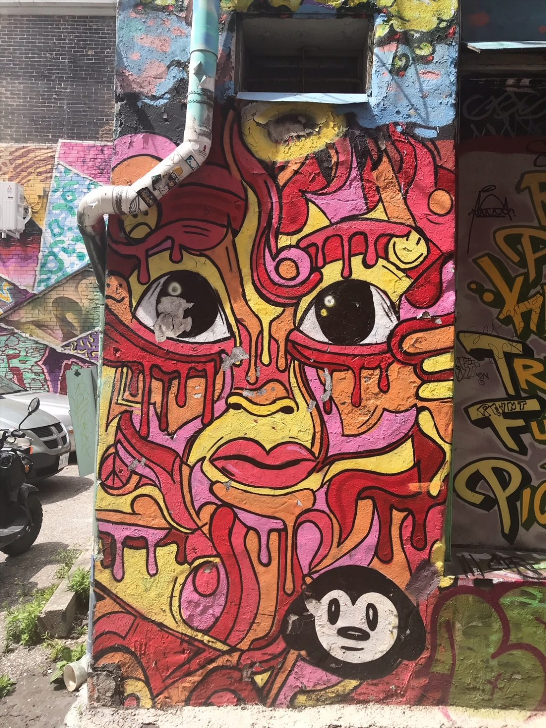 Graffiti Alley in Toronto, Ontario