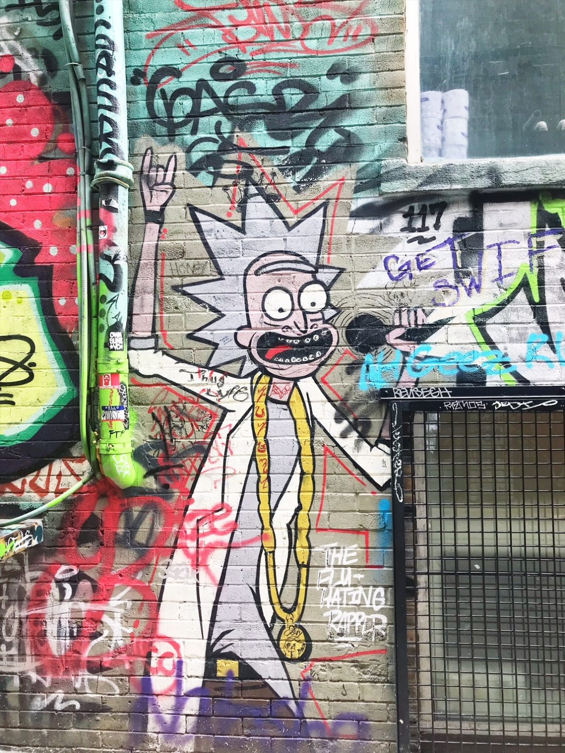 Graffiti Alley Rick and Morty