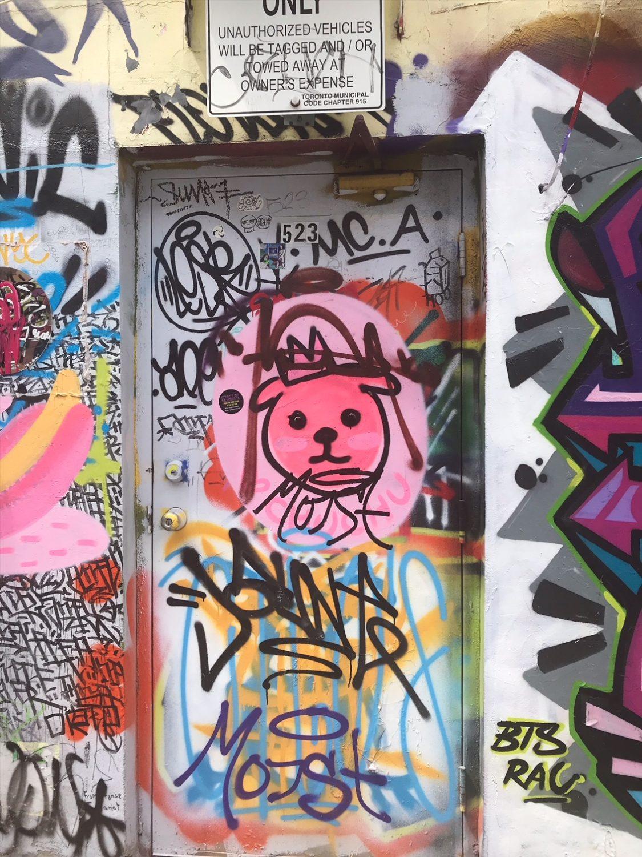 Graffiti Alley in Toronto, Ontario