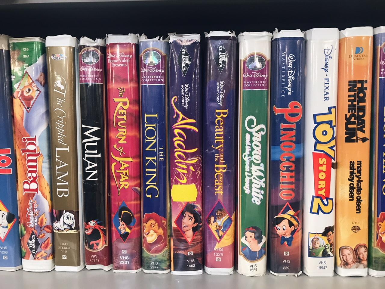 Vintage Disney VHS Videos at Goodwill