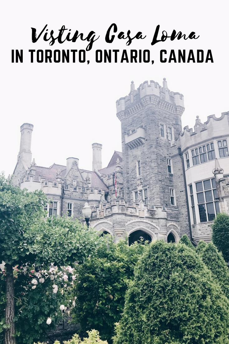 Visiting Casa Loma in Toronto, Ontario, Canada