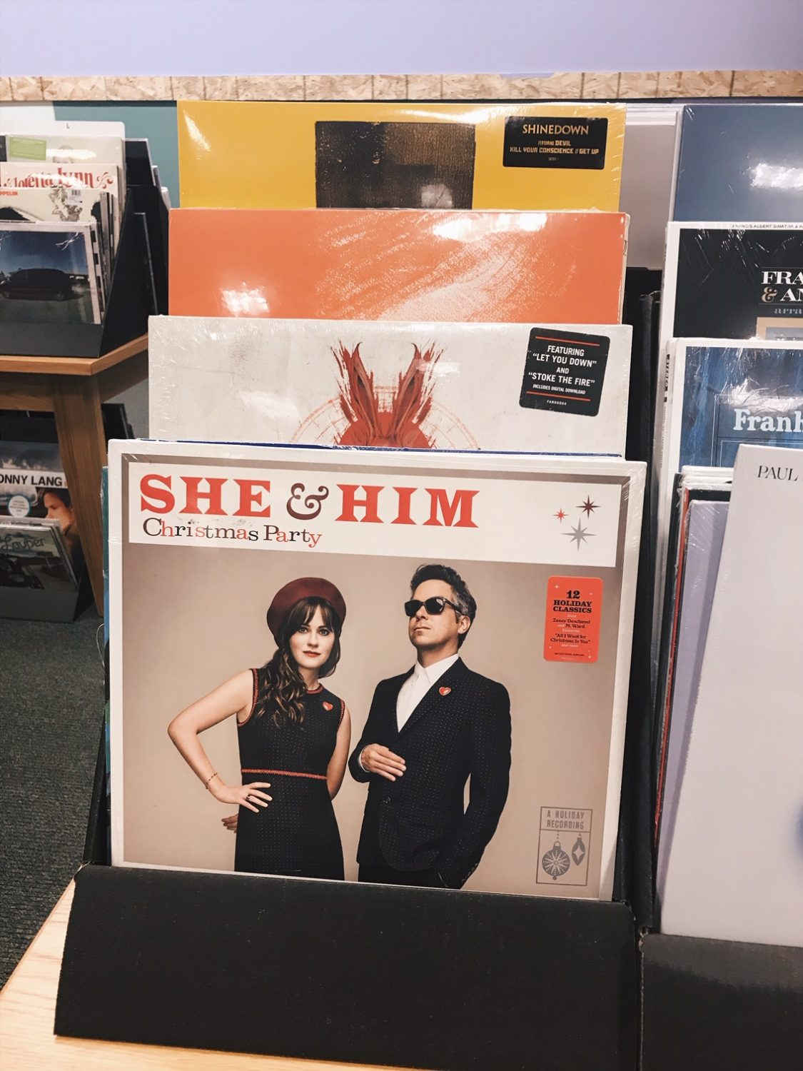She & Him Christmas Party Vinyl Record at Barnes & Noble
