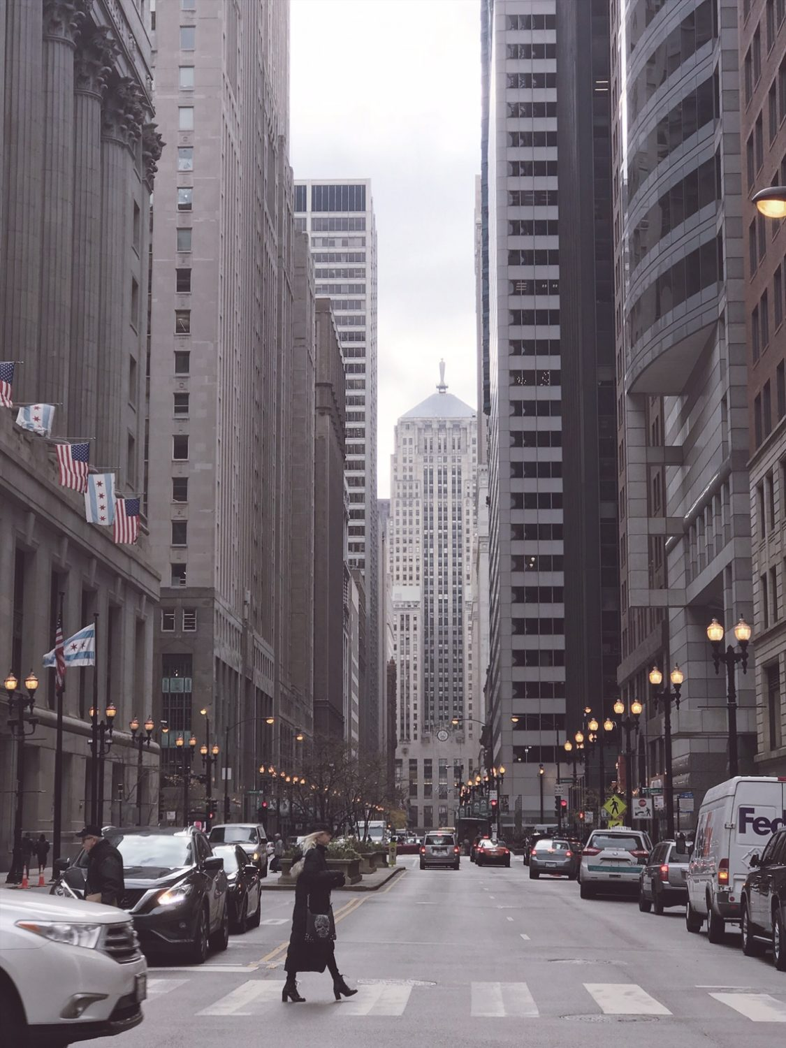 Chicago during fall and winter
