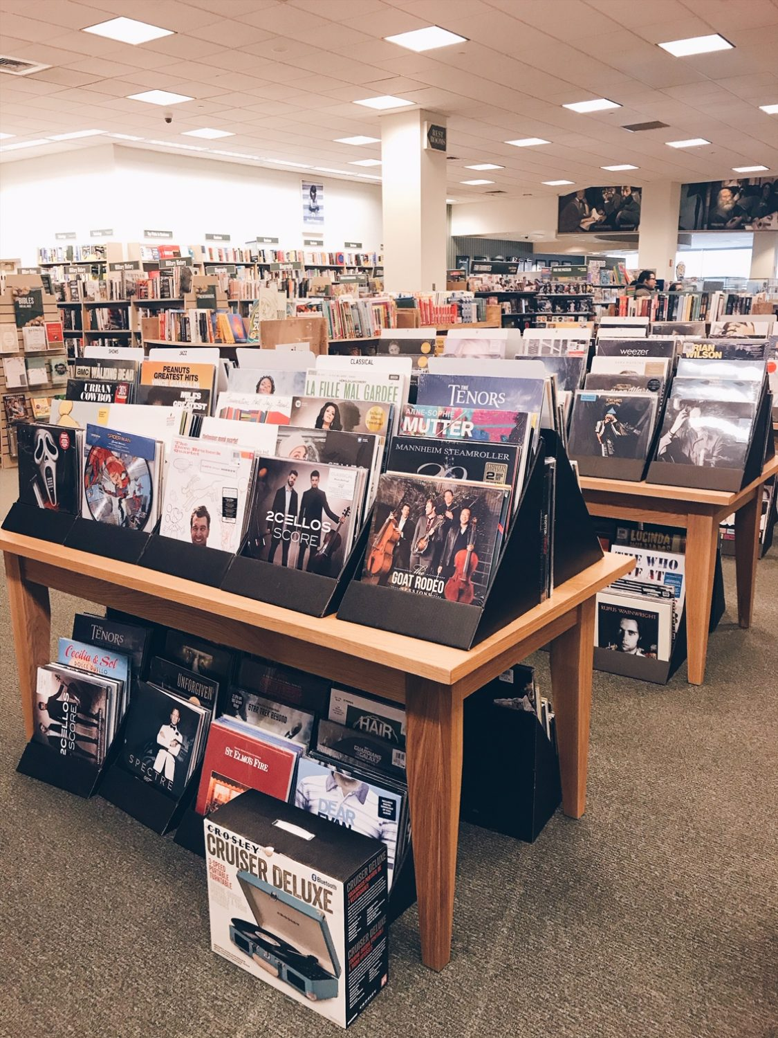 Shopping for Vinyl Records at Barnes & Noble