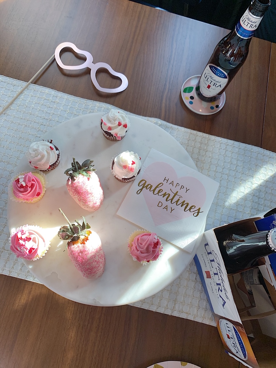 Celebrating Galentine's Day with Michelob ULTRA