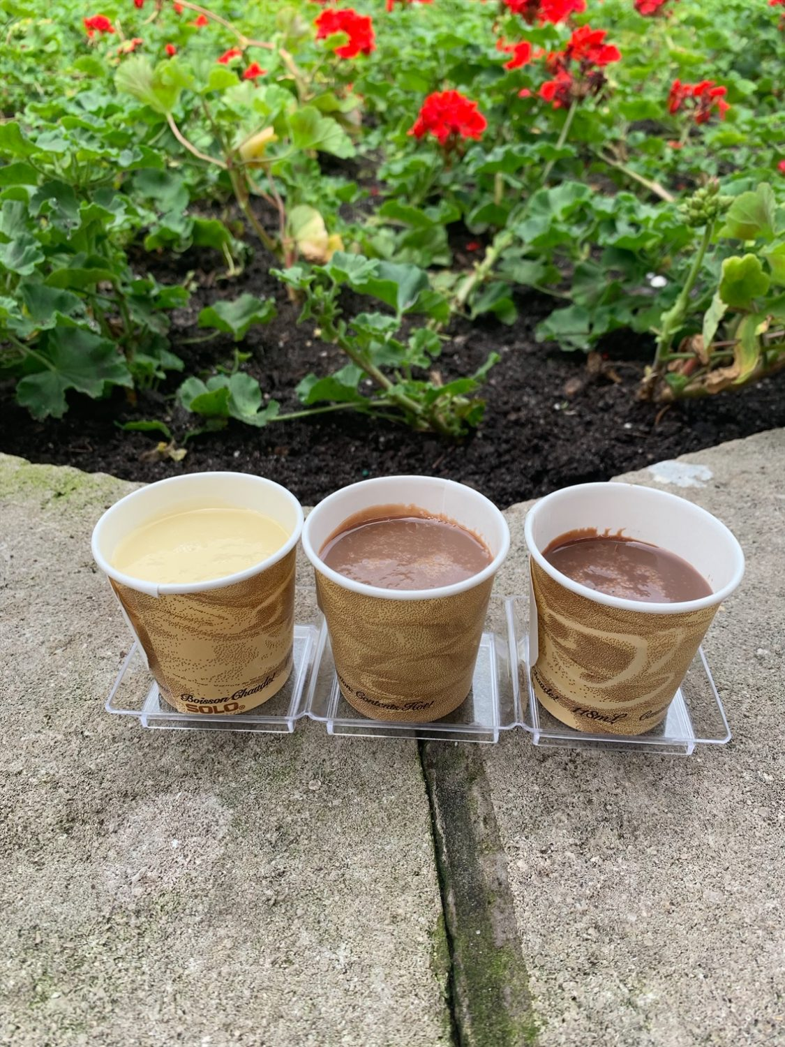 Epcot International Festival of the Arts Sipping Chocolate Flight: White, Milk and Dark
