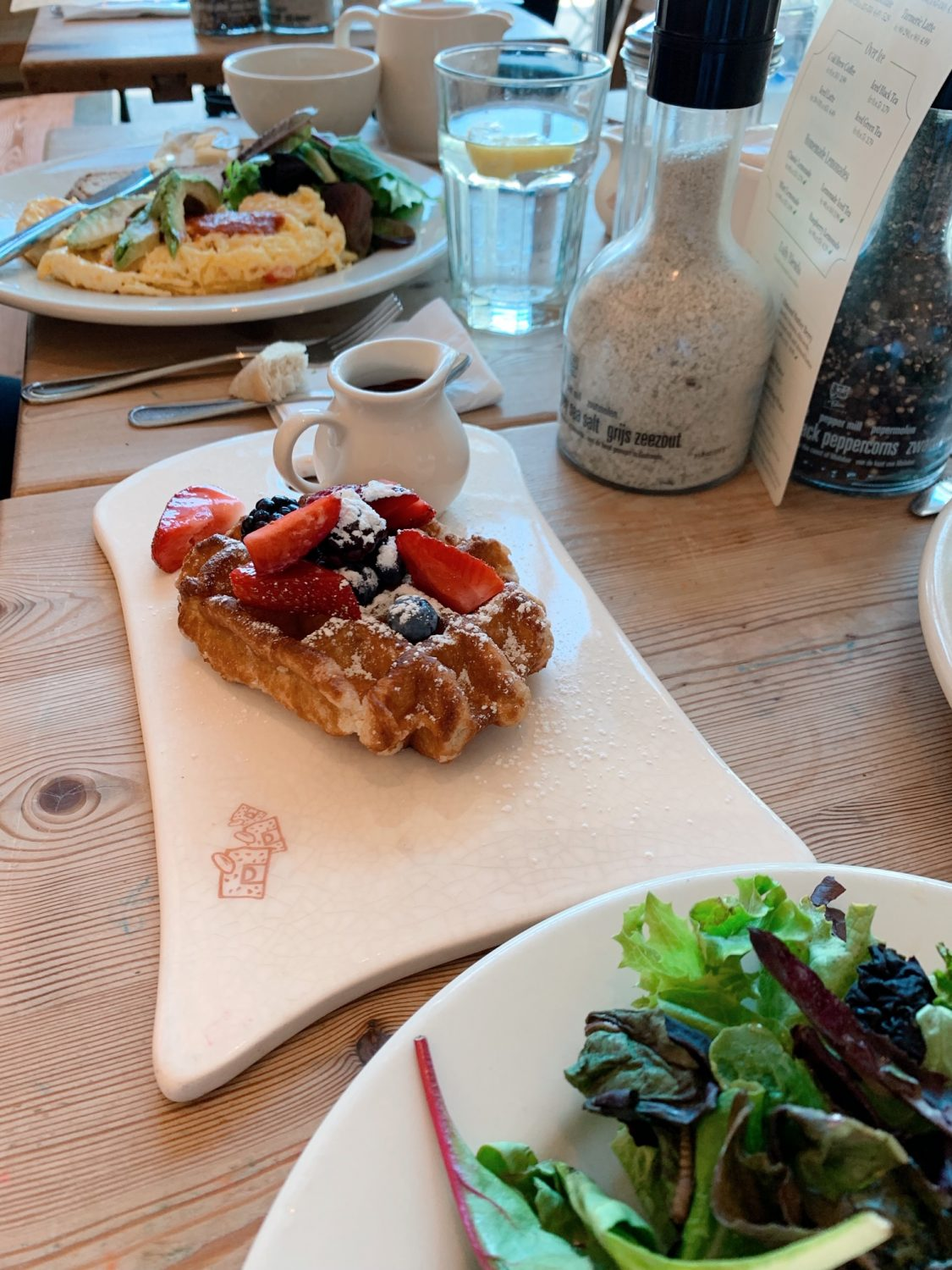 Breakfast at Le Pain Quotidien Warm Belgian Waffle