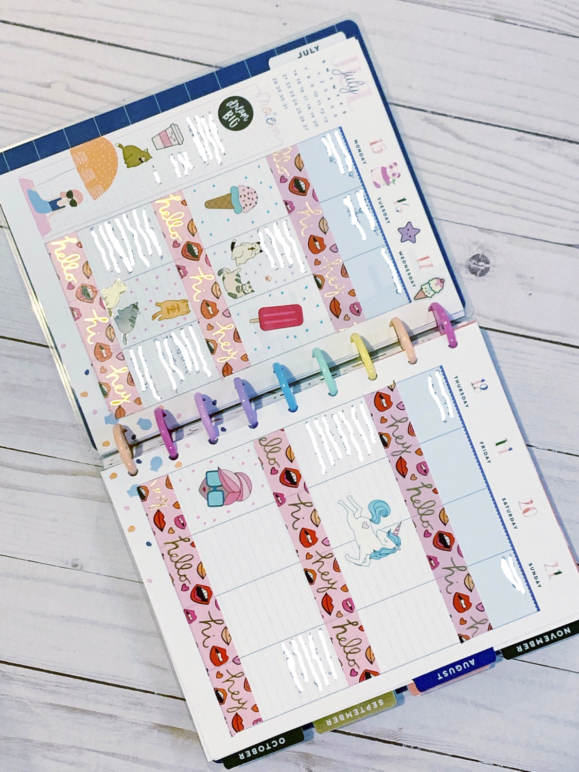 Happy Planner Weekly Planner Spreads