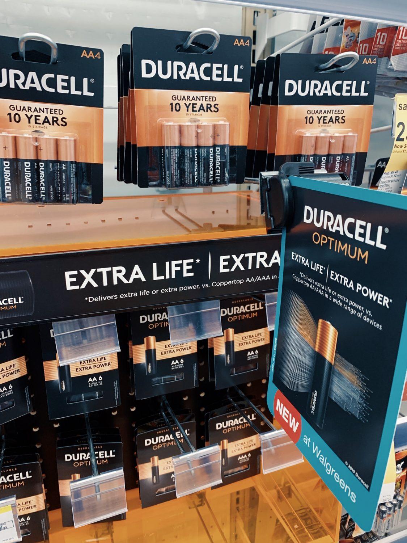 Duracell Optimum Batteries at Walgreen's