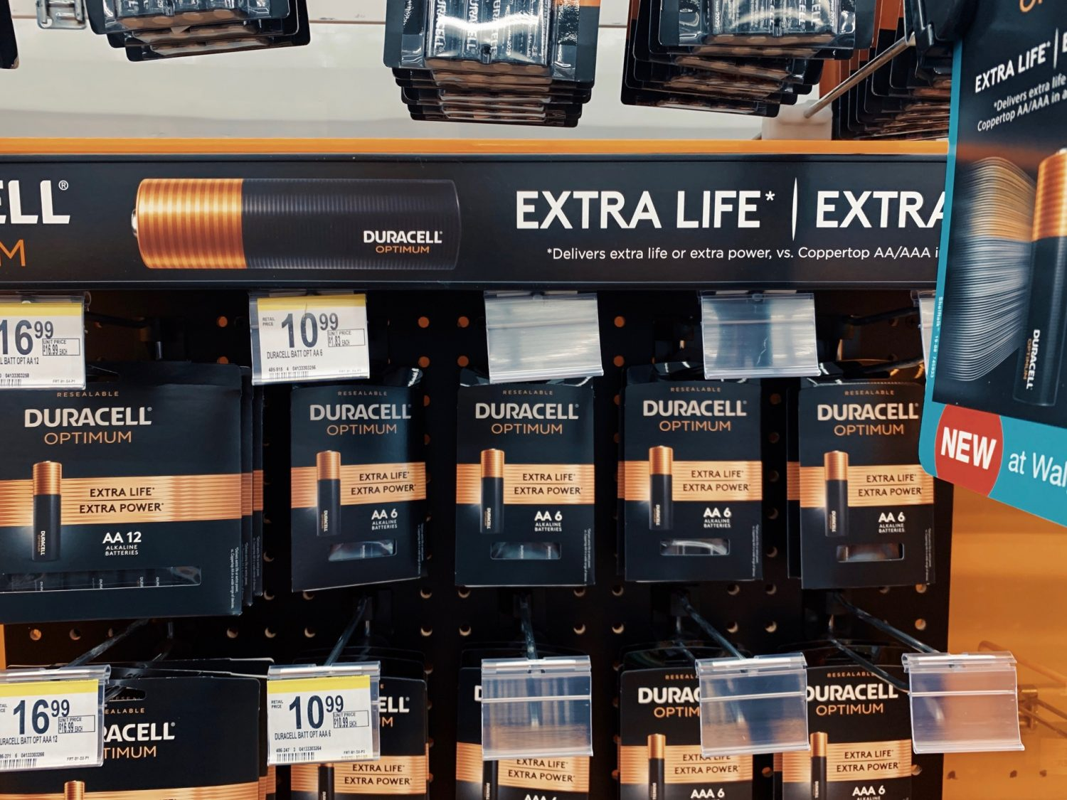 Duracell Optimum Batteries at Walgreen's