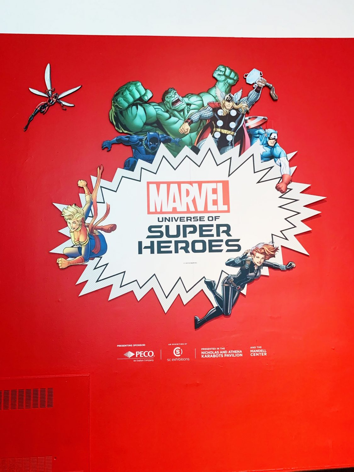 Marvel: Universe of Super Heroes Exhibit at The Franklin Institute