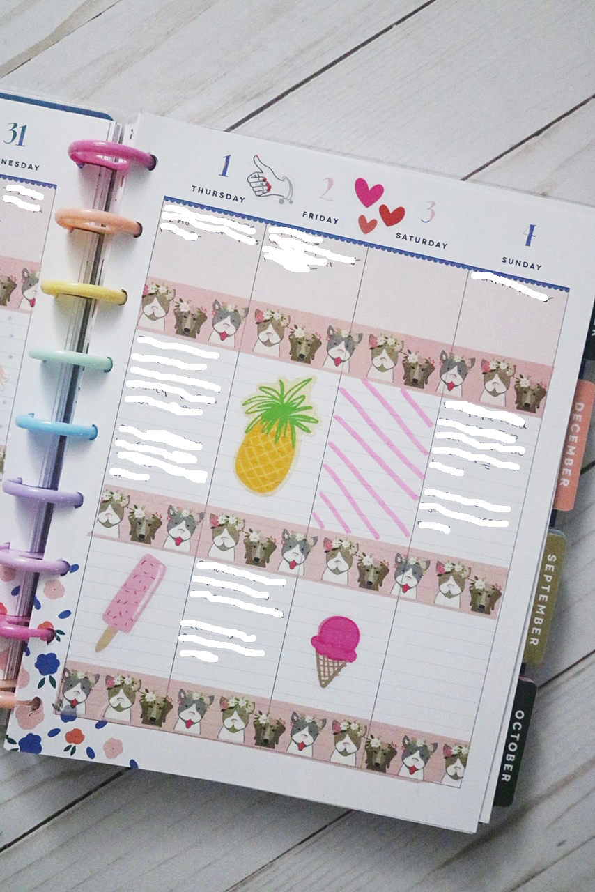 Happy Planner Planner Spread Ideas
