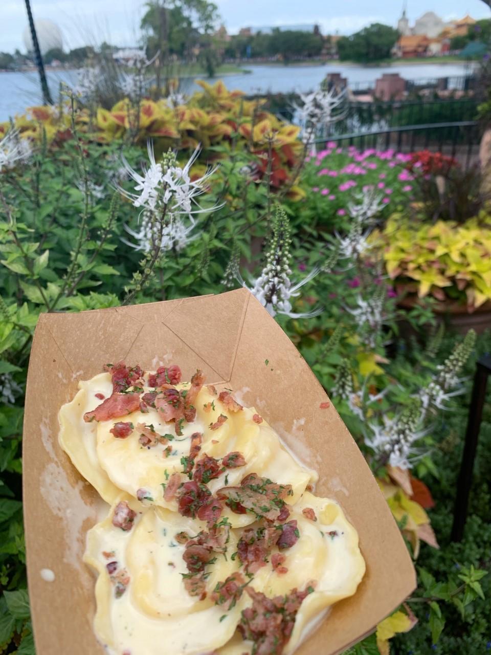 Epcot International Food & Wine Festival Ravioli Carbonara