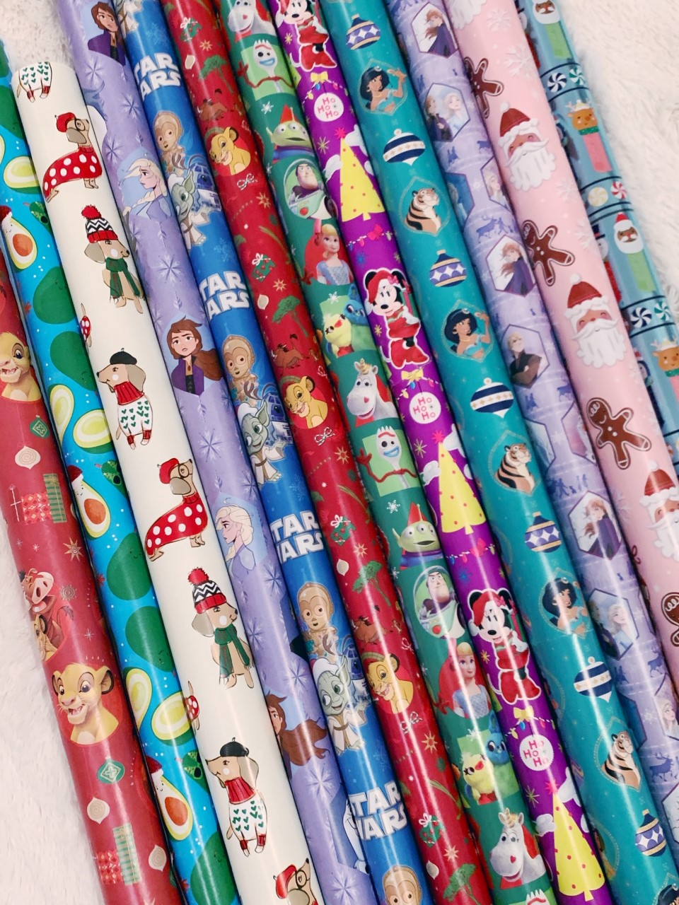 Cute Disney Christmas Wrapping Paper
