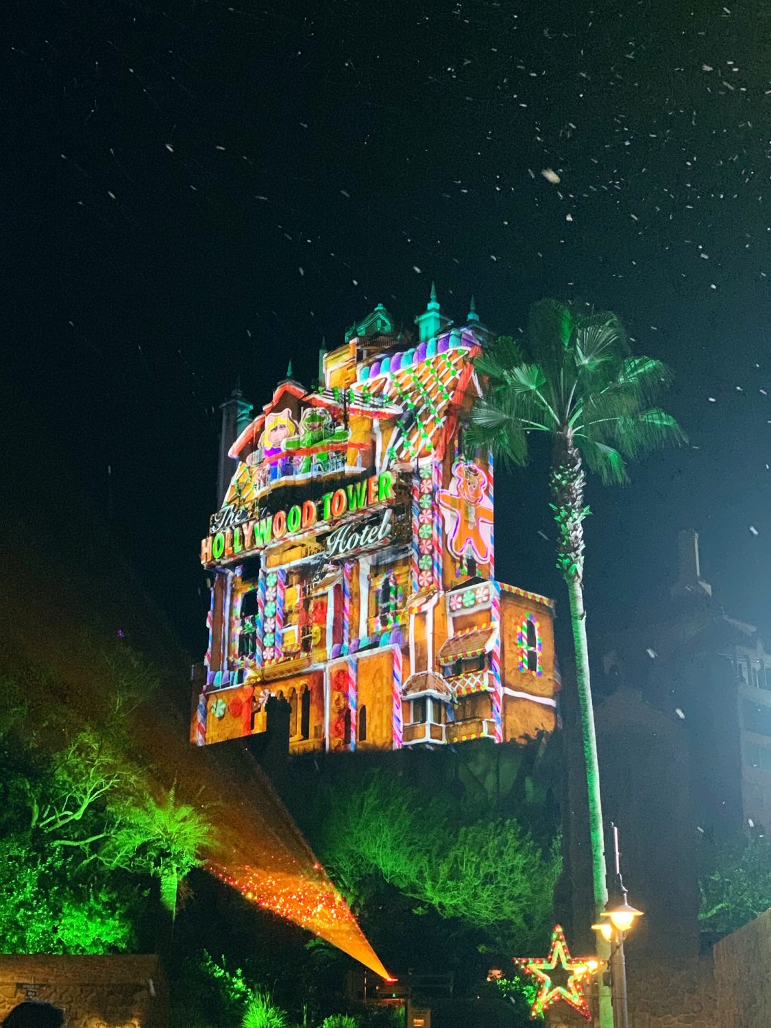 Hollywood Studios During Christmastime Tower of Terror