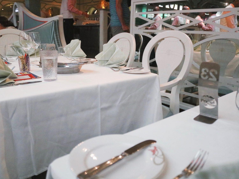 Dinner on the Disney Cruise Line: Enchanted Garden Disney Dream