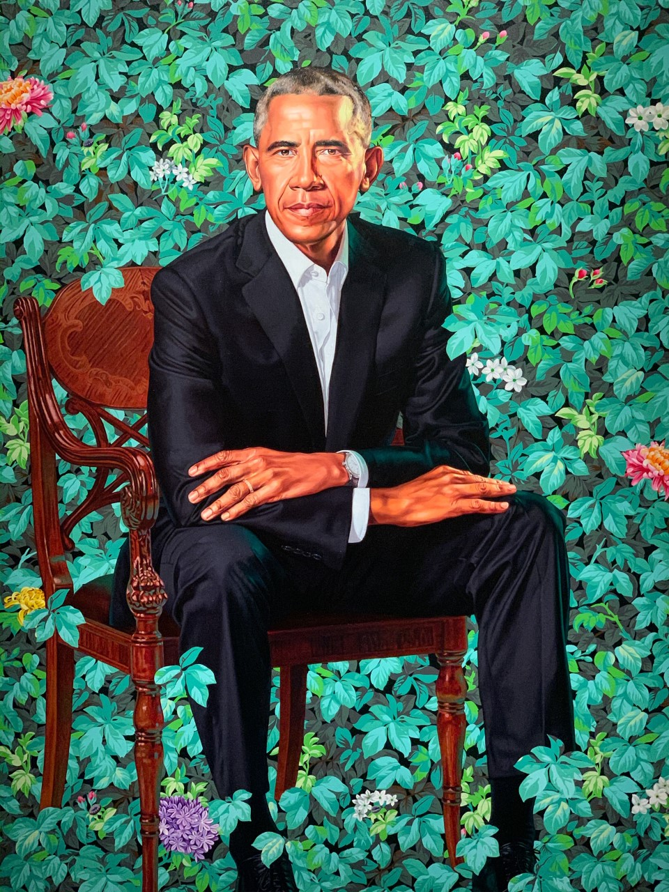 Obama Portrait in National Portrait Gallery in Washington, D.C.