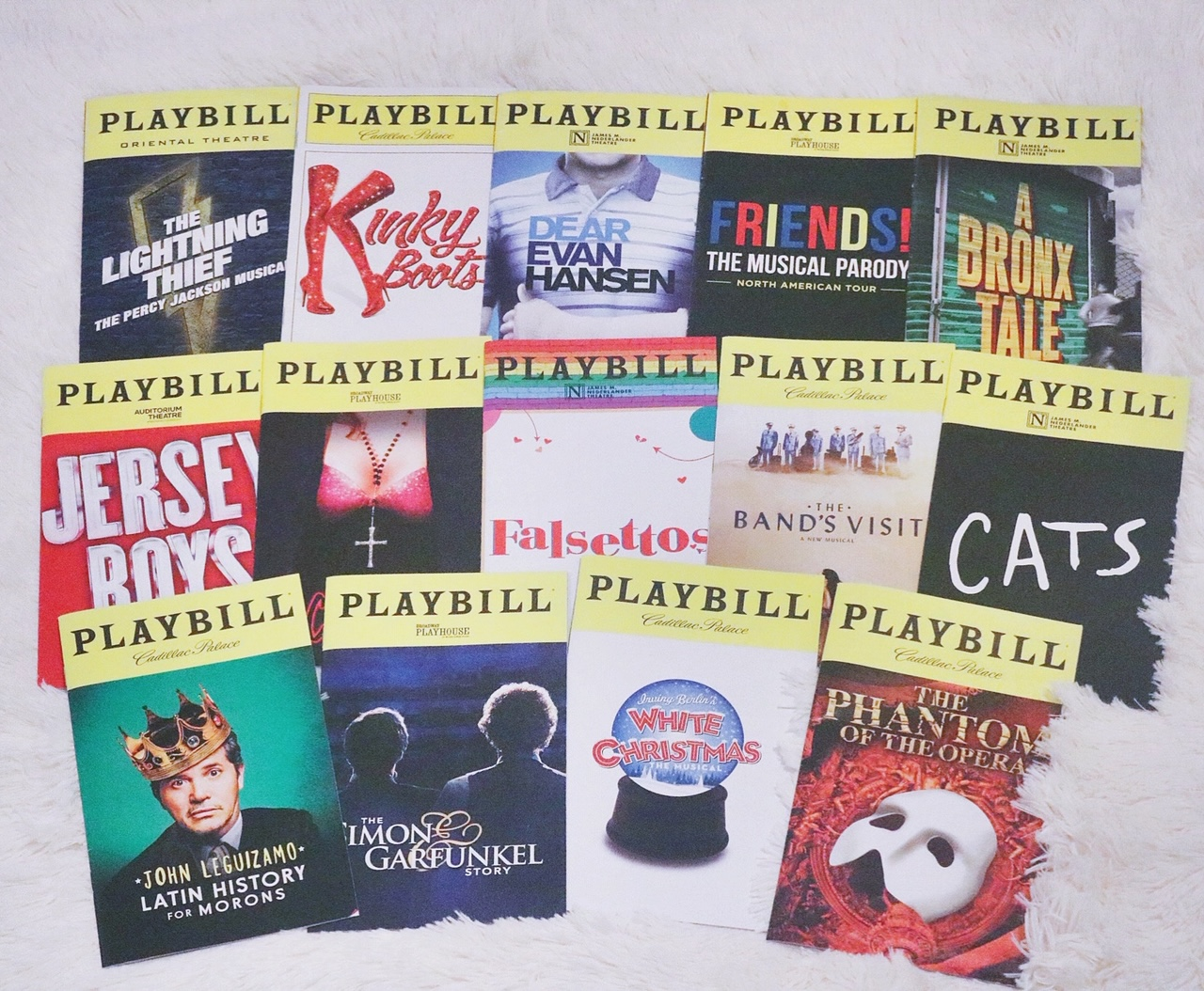 Broadway in Chicago Broadway playbills