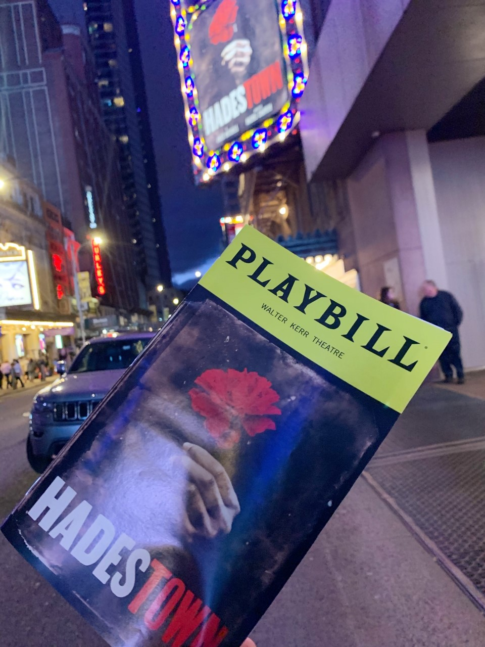 Hadestown Playbill Walter Kerr Theatre