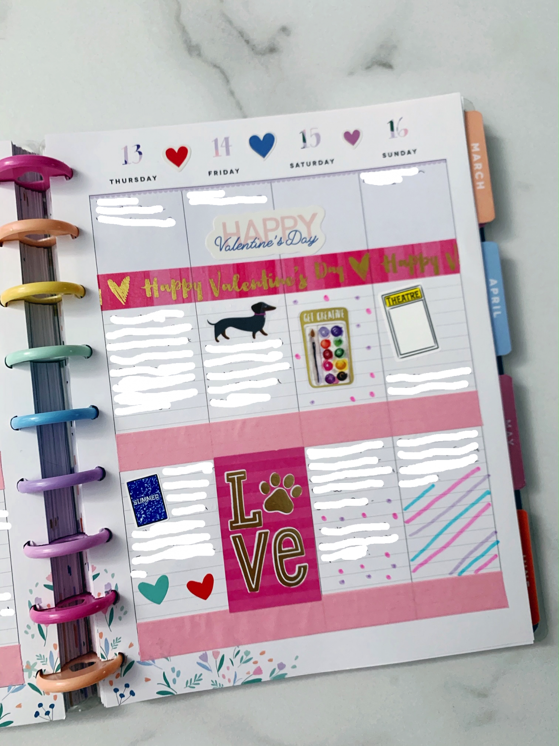 Happy Planner Weekly Planner Spread Ideas