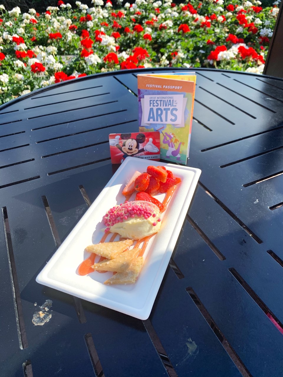 Epcot Festival of the Arts deconstructed strawberry cheesecake