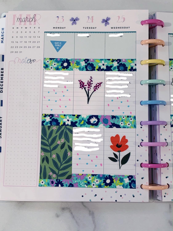 Happy Planner Weekly Planner Spread Ideas