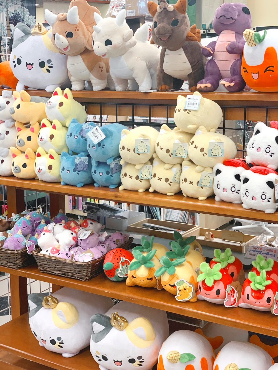 Japanese market Mitsuwa Marketplace in Chicago Plushies