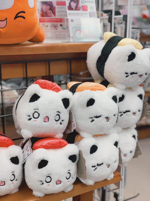 Japanese market Mitsuwa Marketplace in Chicago Sushi cat plush